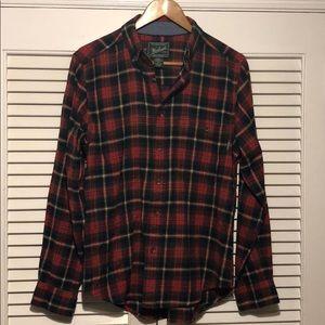 Woolrich Plaid Flannel Button Down Shirt.